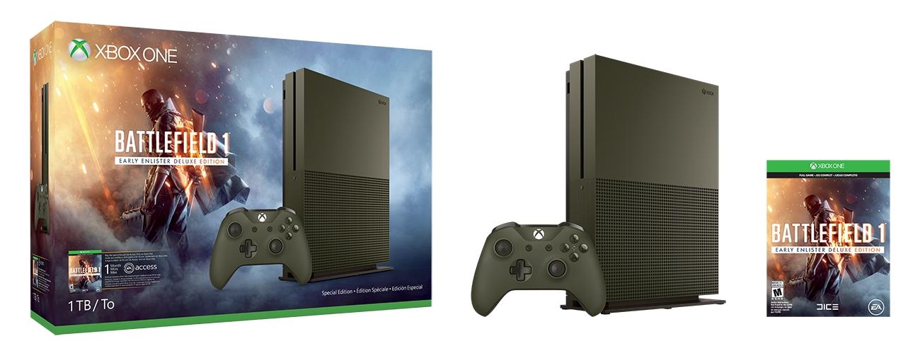microsoft-announces-military-green-1tb-xbox-one-s-battlefield-1-console-147368619242