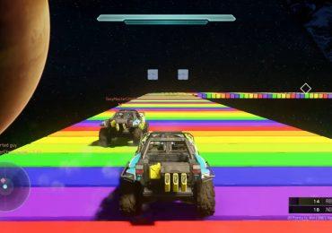 Mira la pista de Mario Kart Rainbow Road en Halo 5-GamersRD
