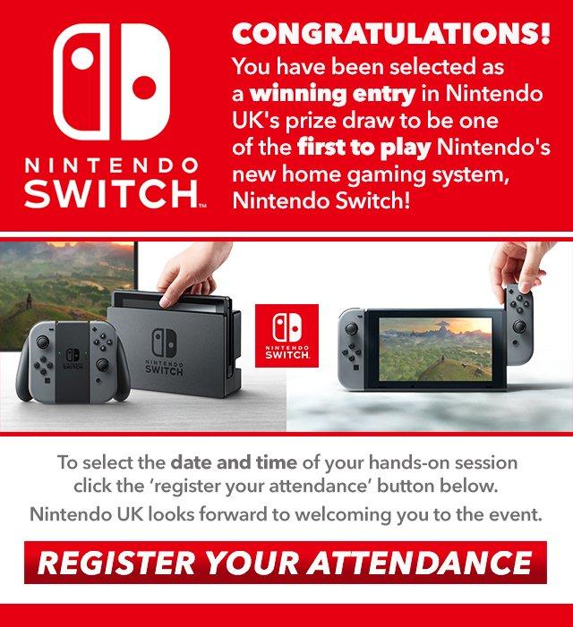 Nintendo UK ya seleccionado los ganadores para probar la Switch