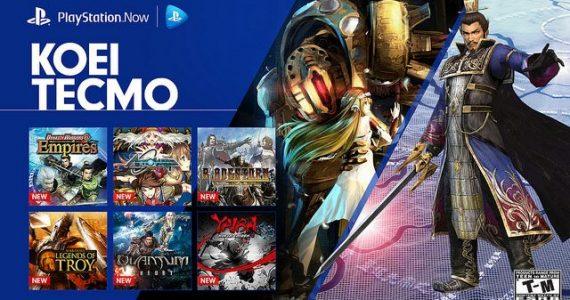 Añaden 12 juegos de Koei Tecmo al PlayStation Now