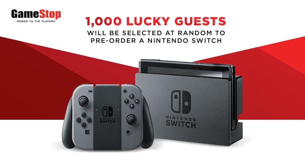 GameStop permitirá a 1,000 personas pre-ordenar Nintendo Switch este ...