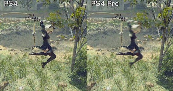 Mira la comparativa gráfica de NieR Automata en PS4 Pro y PS4 -gAMERSrd
