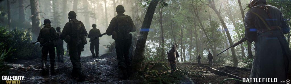 Comparacion Call od Duty WWII vs Battlefield 1-1GamersRD