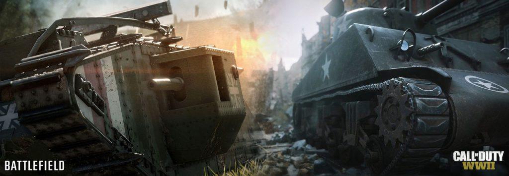 Comparacion Call od Duty WWII vs Battlefield 1-GamersRD