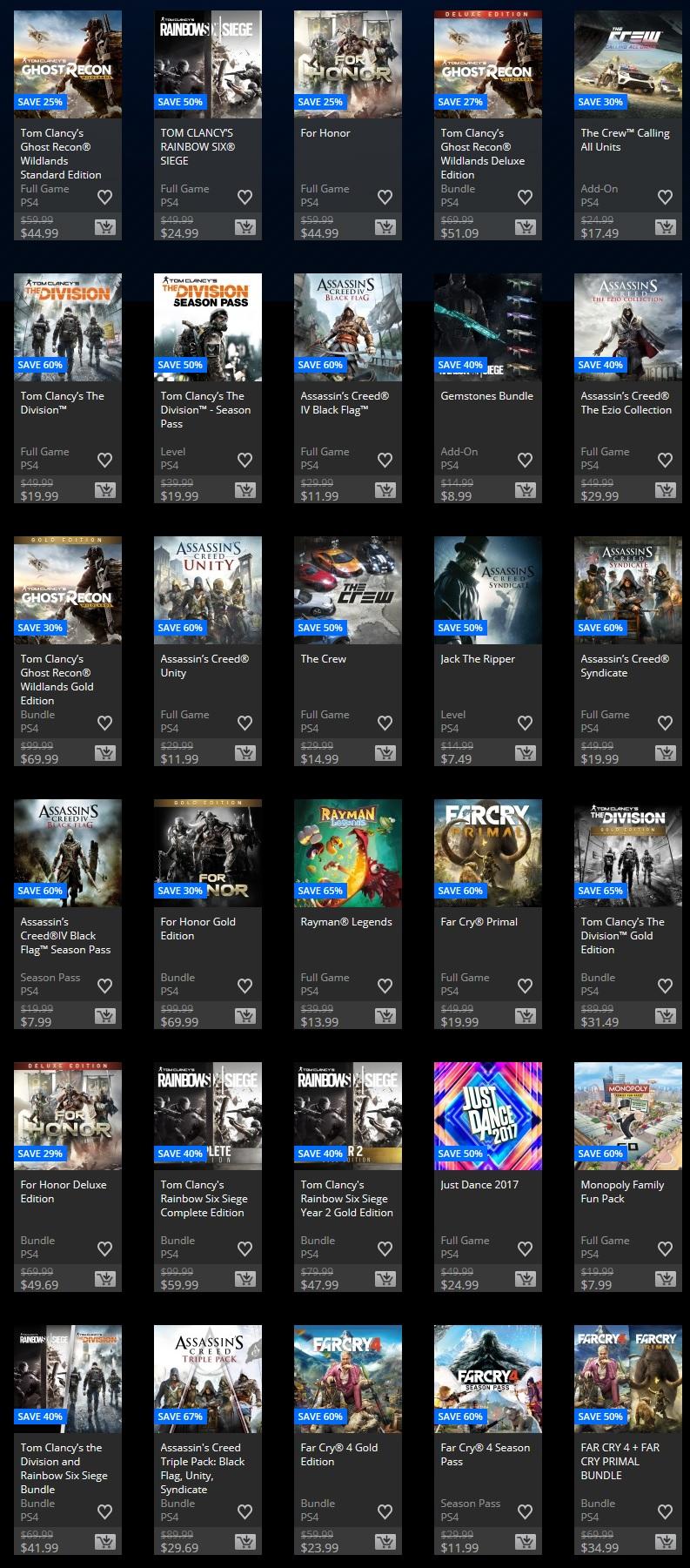 La PlayStation Store de EU ofrece descuentos a juegos de Sony Santa Monica y Ubisoft