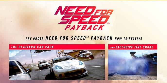 Si reservas el NFS: Payback EA te dará un efecto gráfico exclusivo
