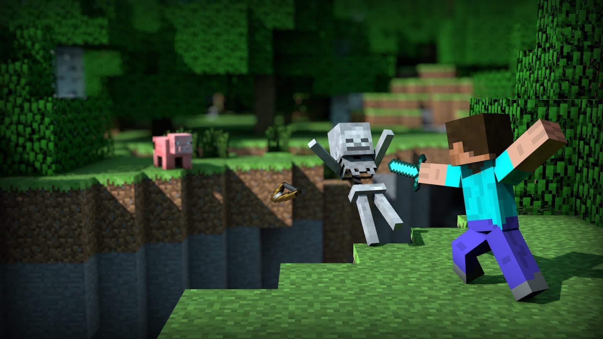 Jugador de Minecraft construye un cubo volcado en el juego, GamersRD