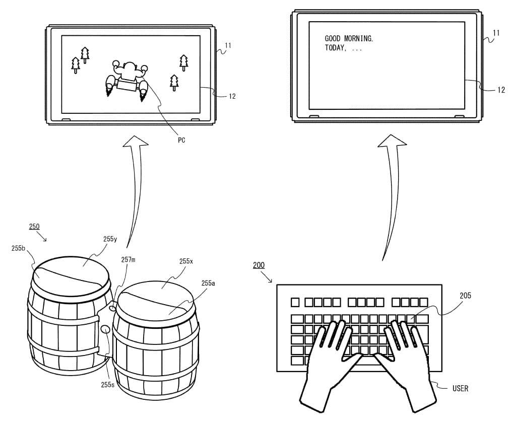 Nintendo patenta Donkey Kong Drums y un teclado para Nintendo Switch-GamersRD