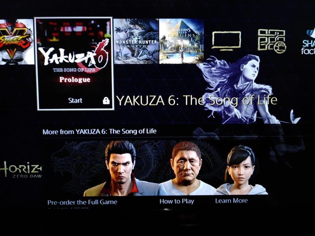 Sony revoca todas las copias gratuitas de Yakuza 6 sin penalizaciones