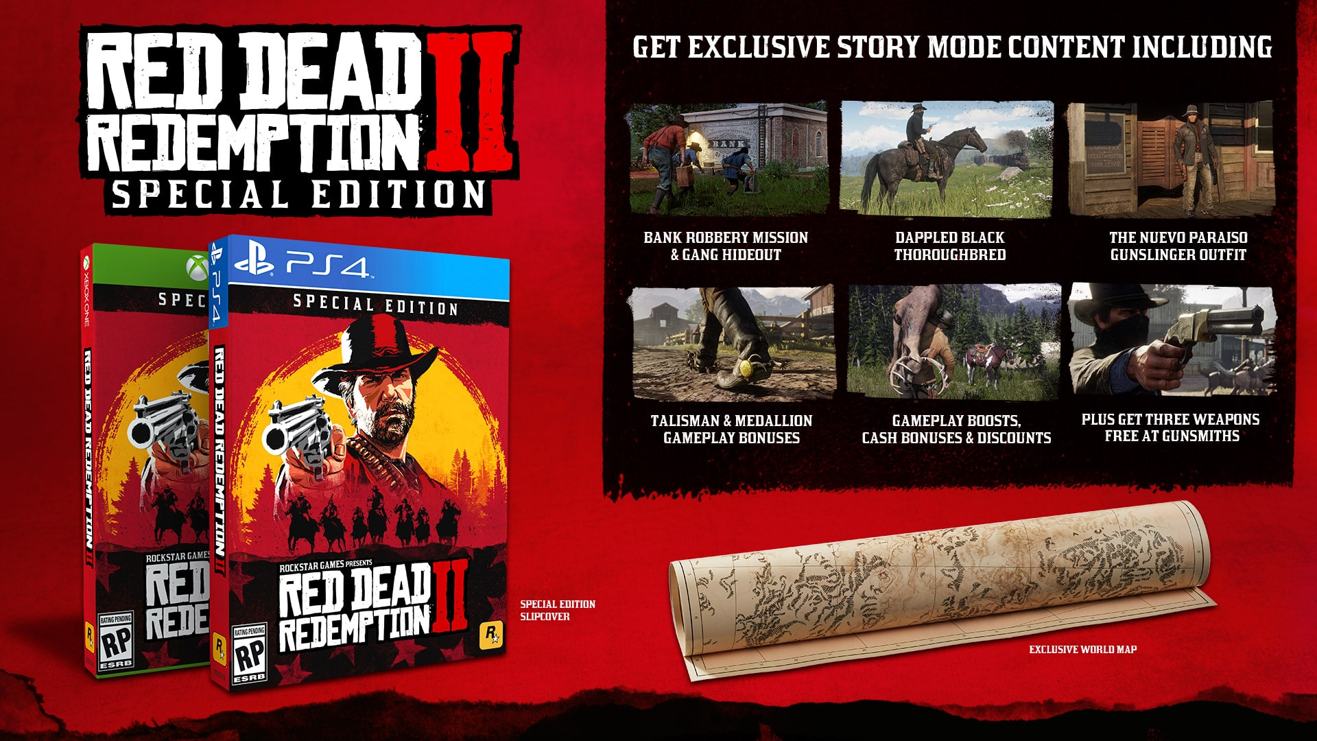 Revelan las ediciones especiales de Red Dead Redemption 2