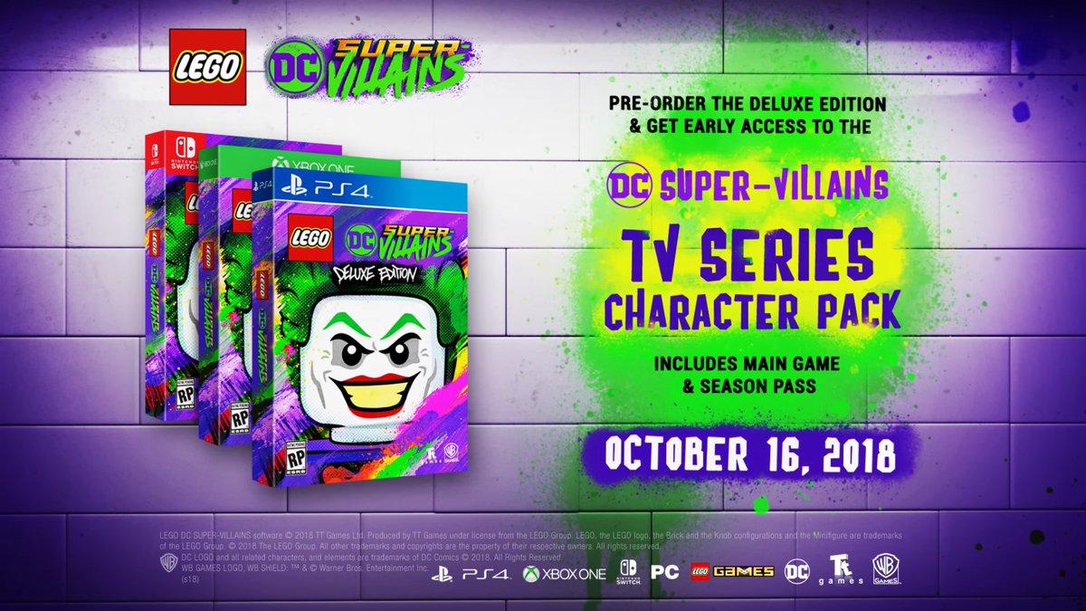 Anuncian pase de temporada de Lego DC Super-Villains