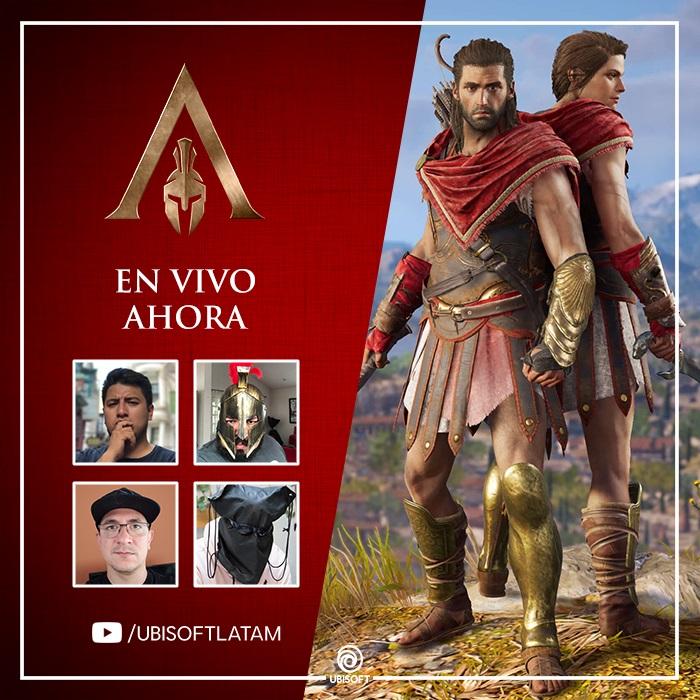 EN-VIVO-Lanzamiento-Assassin's Creed Odyssey-UBISOFT-GamersRD