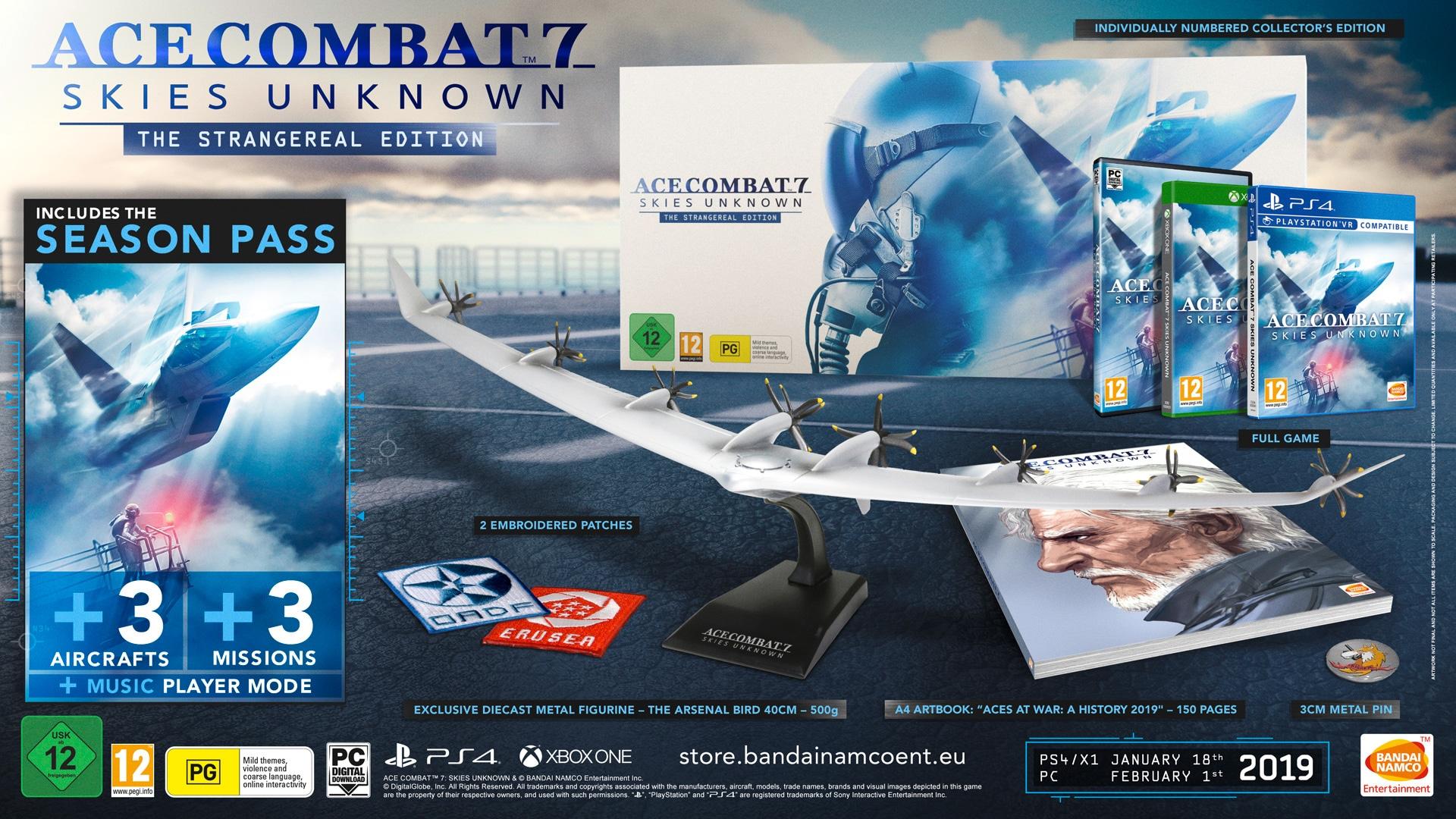 Ace Combat 7: Skies Unknown tendrá una Collector's Edition para Europa
