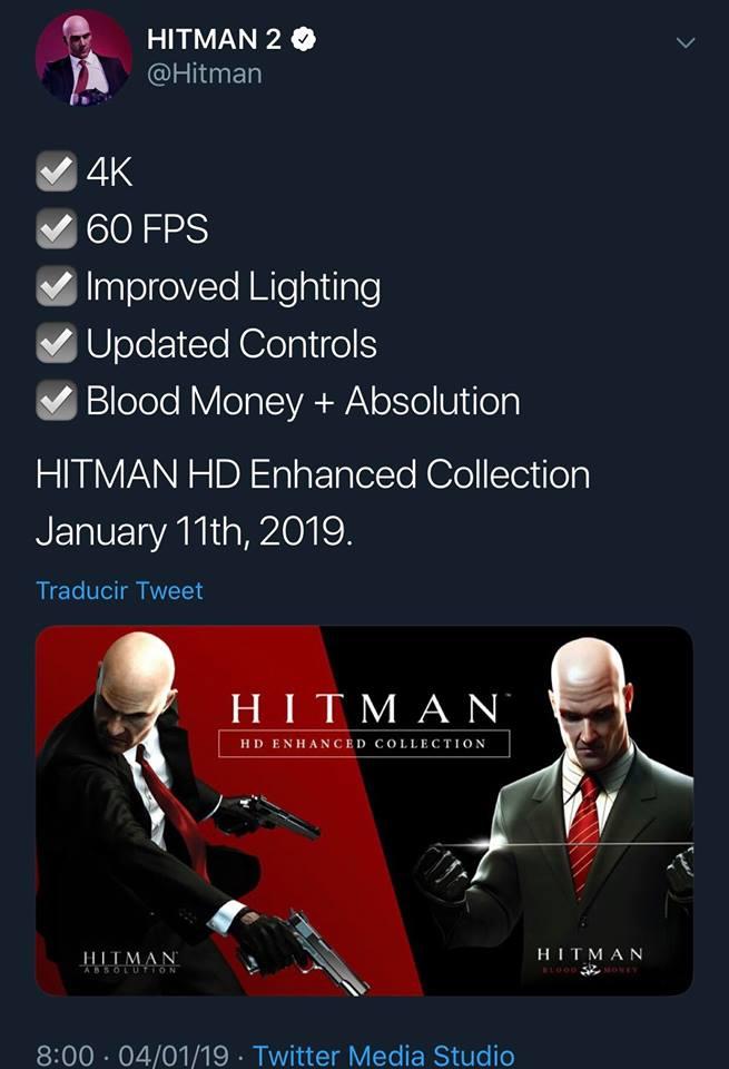 Hitman Hd Enhanced Collection Es Confirmada