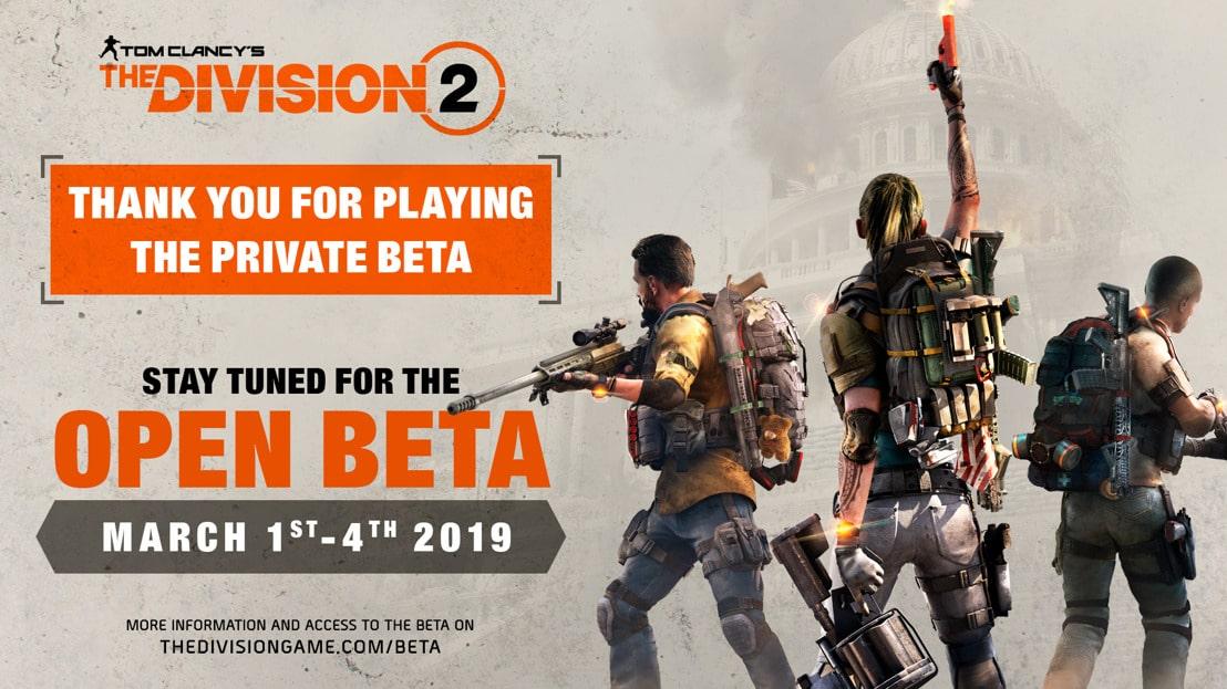 Tom Clancys, The Division 2, beta abierta, Ubisoft, GamersRD