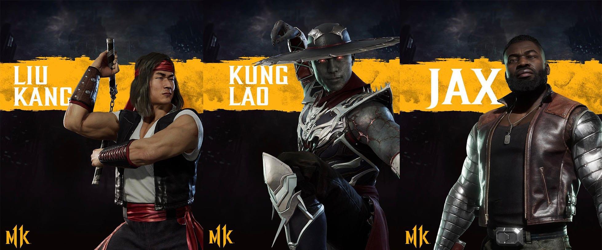 Liu Kang, Kung Lao y Jax son confirmados para Mortal Kombat 11