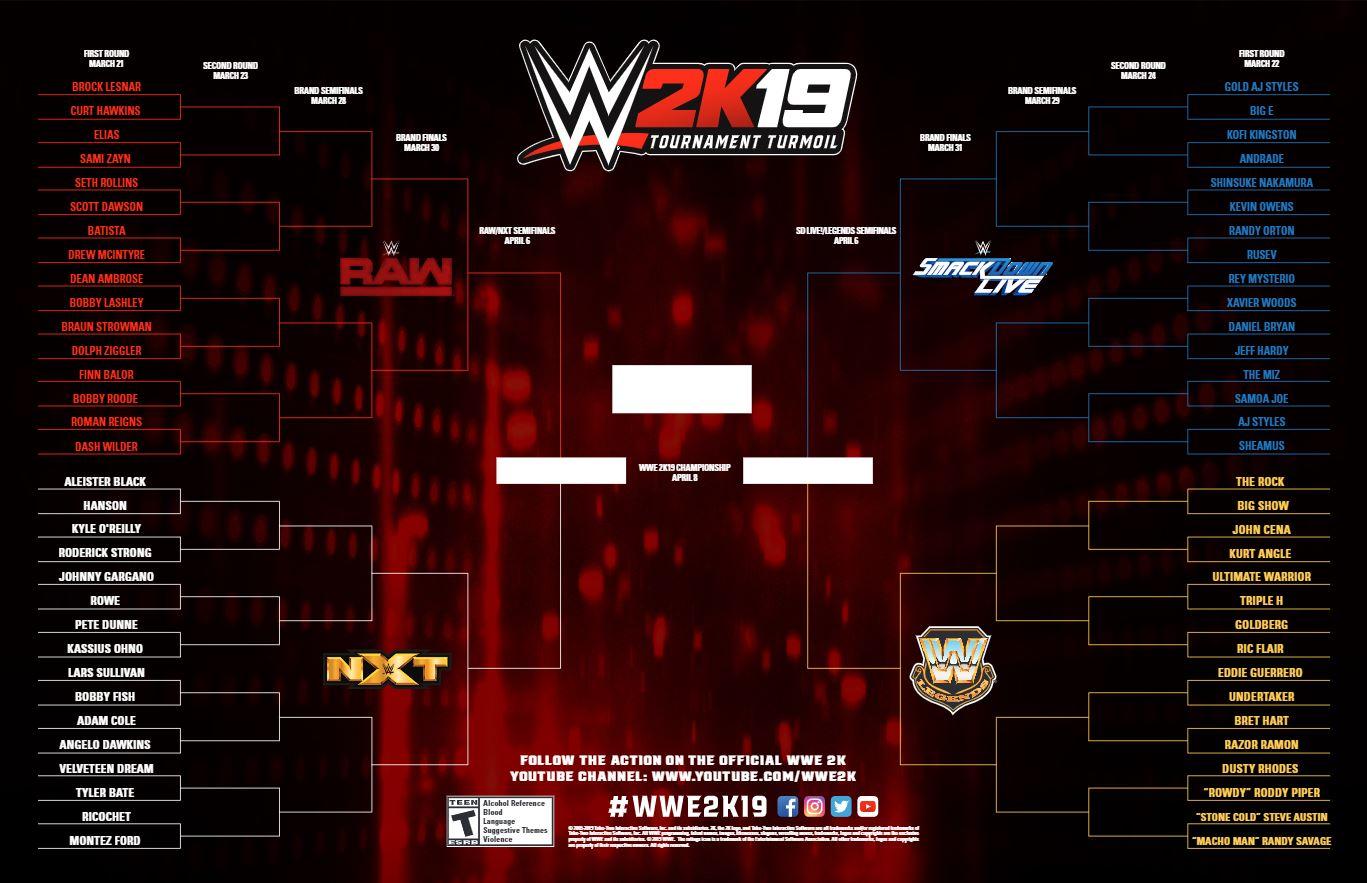 WWE 2K19 Tournament Turmoil Championship, 2K Games, GamersRD