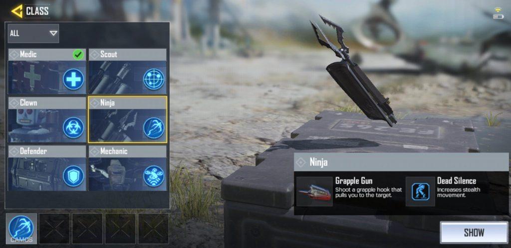 Ninja Grapple Gun, Dead Silence, Call of Duty Mobile, GamersRD