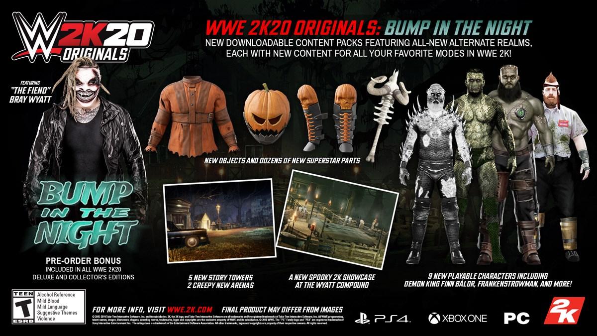 The Fiend, Bray Wyatt Headlines First WWE 2K20 Originals Pack , GamersRD