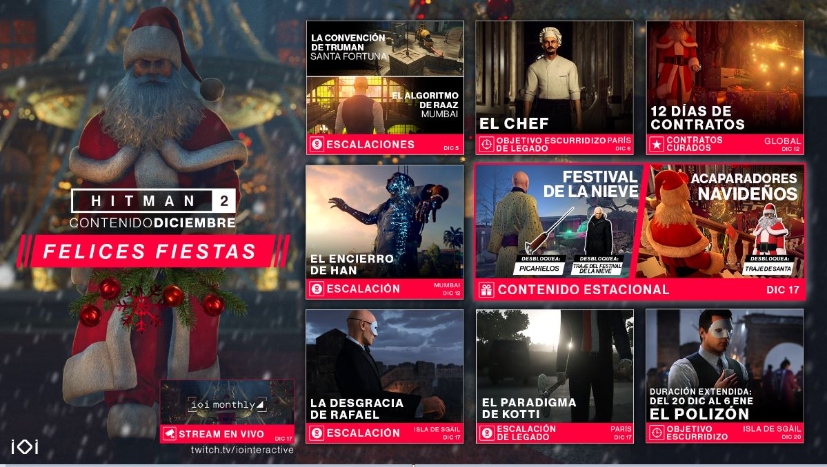 Hitman 2, roadmap , Diciembre, GamersRD