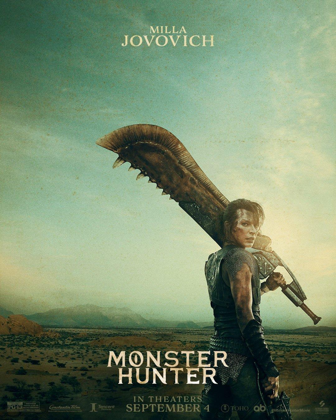 La película de Monster Hunter presenta nuevos pósters