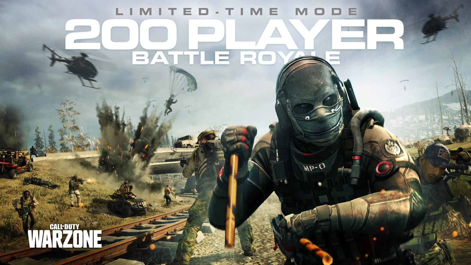 Call of Duty: Warzone recibe modo de 200 jugadores de manera temporal