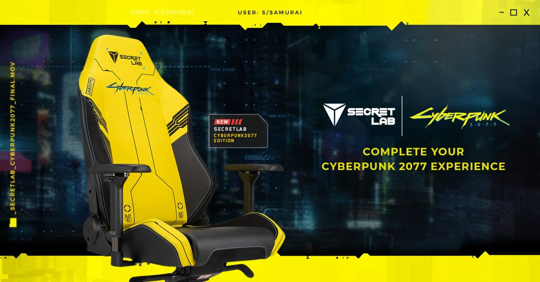 Secretlab lanza silla gaming edición limitada de Cyberpunk 2077