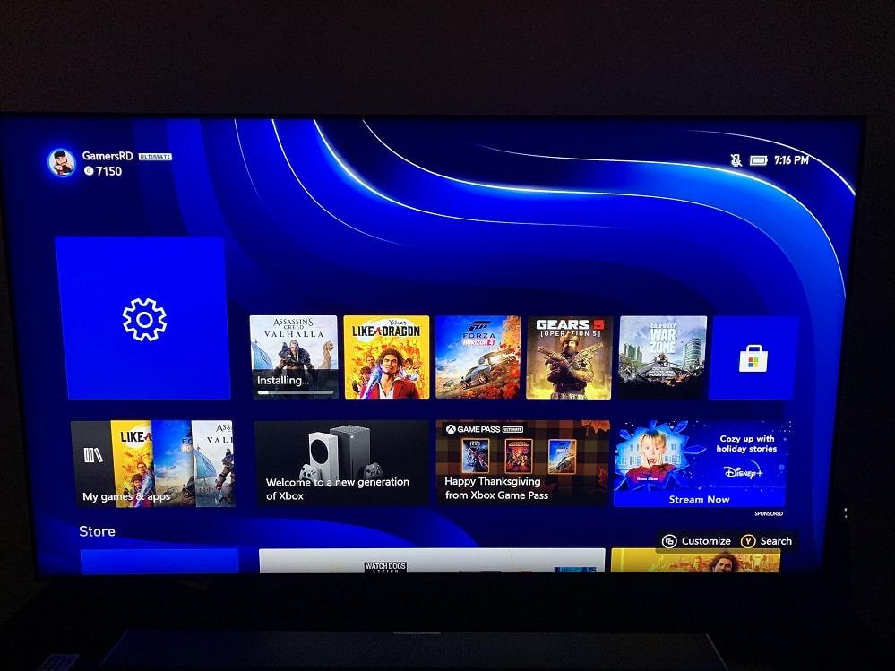 Xbox Series X review, interfaz, GamersRD