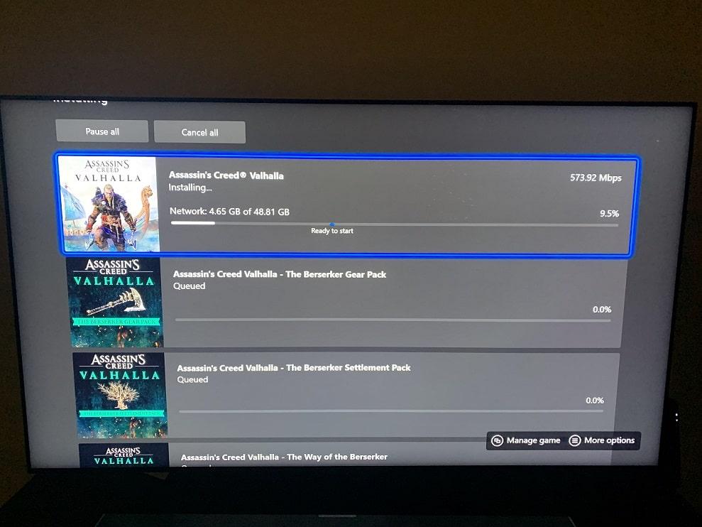 Xbox Series X review, interfaz, valhalla GamersRD
