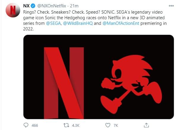 Sonic the Hedgehog, Netflix, GamersRD