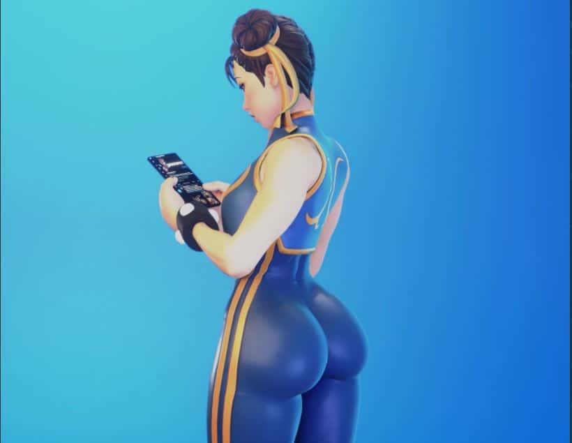 Fanáticos de Fortnite están locos con Chun-Li de Street Fighter, GamersRD