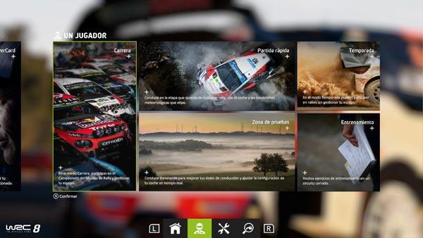 Modos de juego WRC9