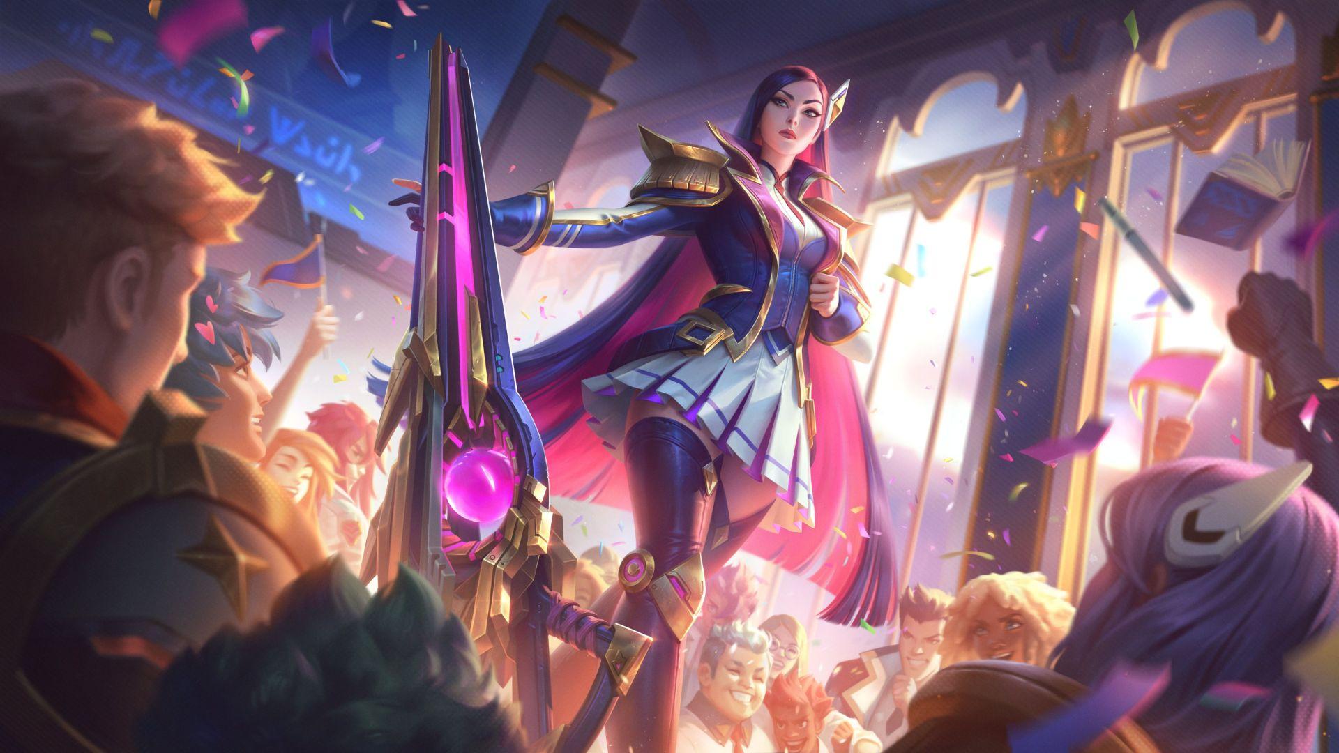 league-of-legends-battle-academia-caitlyn -gamersrd