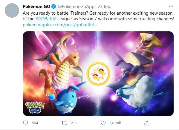 Tweet Pokemon Go