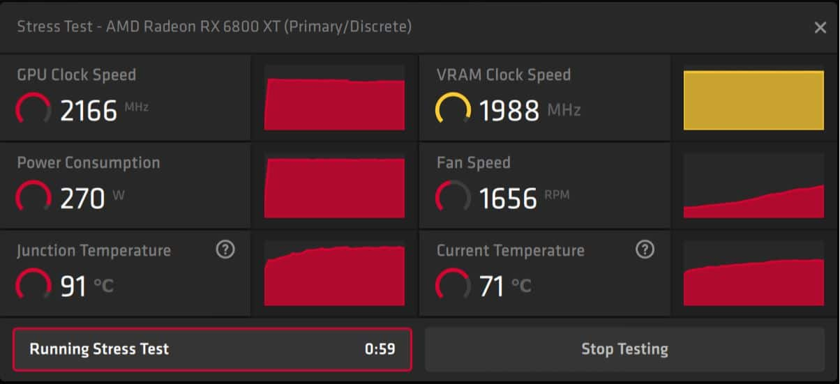 AMD Radeon Software Adrenalin 21.4.1,stress test, GamersRD