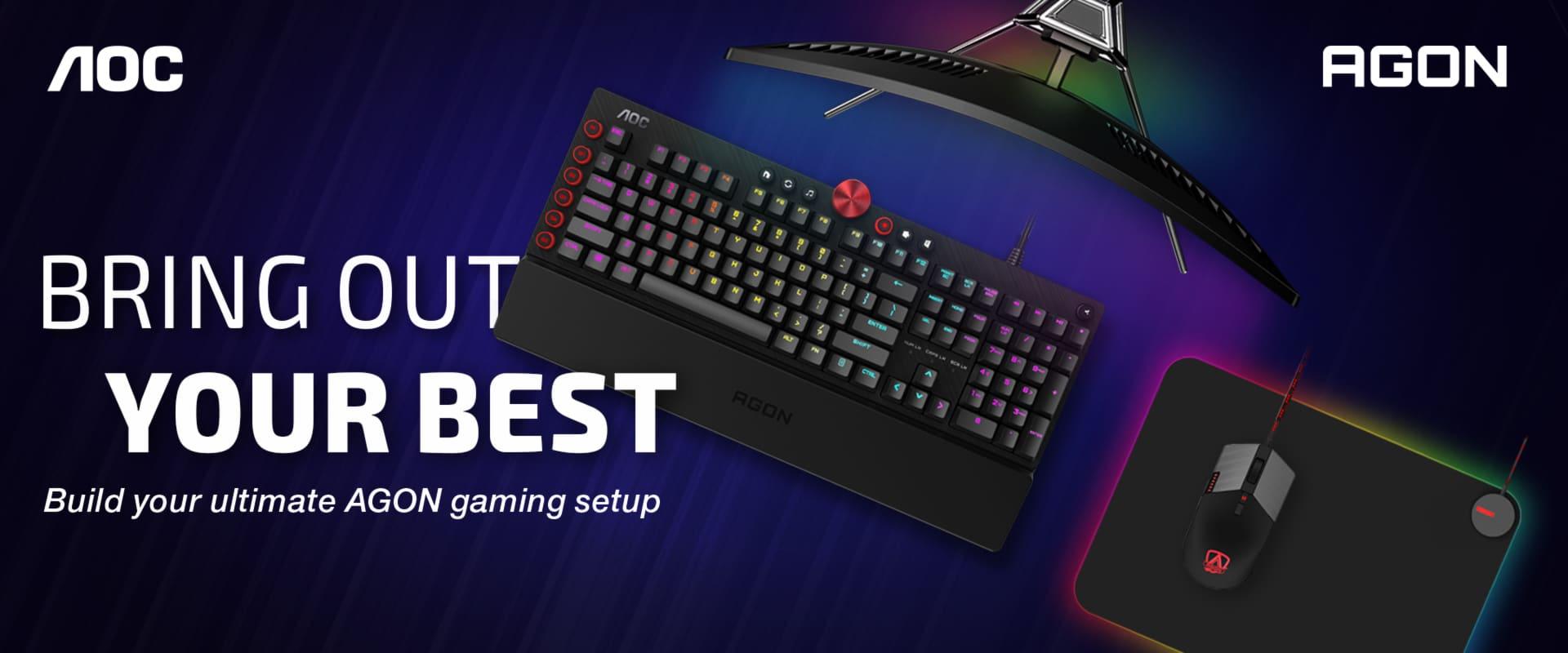 AOC amplía su gama con los nuevos teclados mecánicos, mouse y mousepad personalizables con el software AOC G-Tools, GamersRD