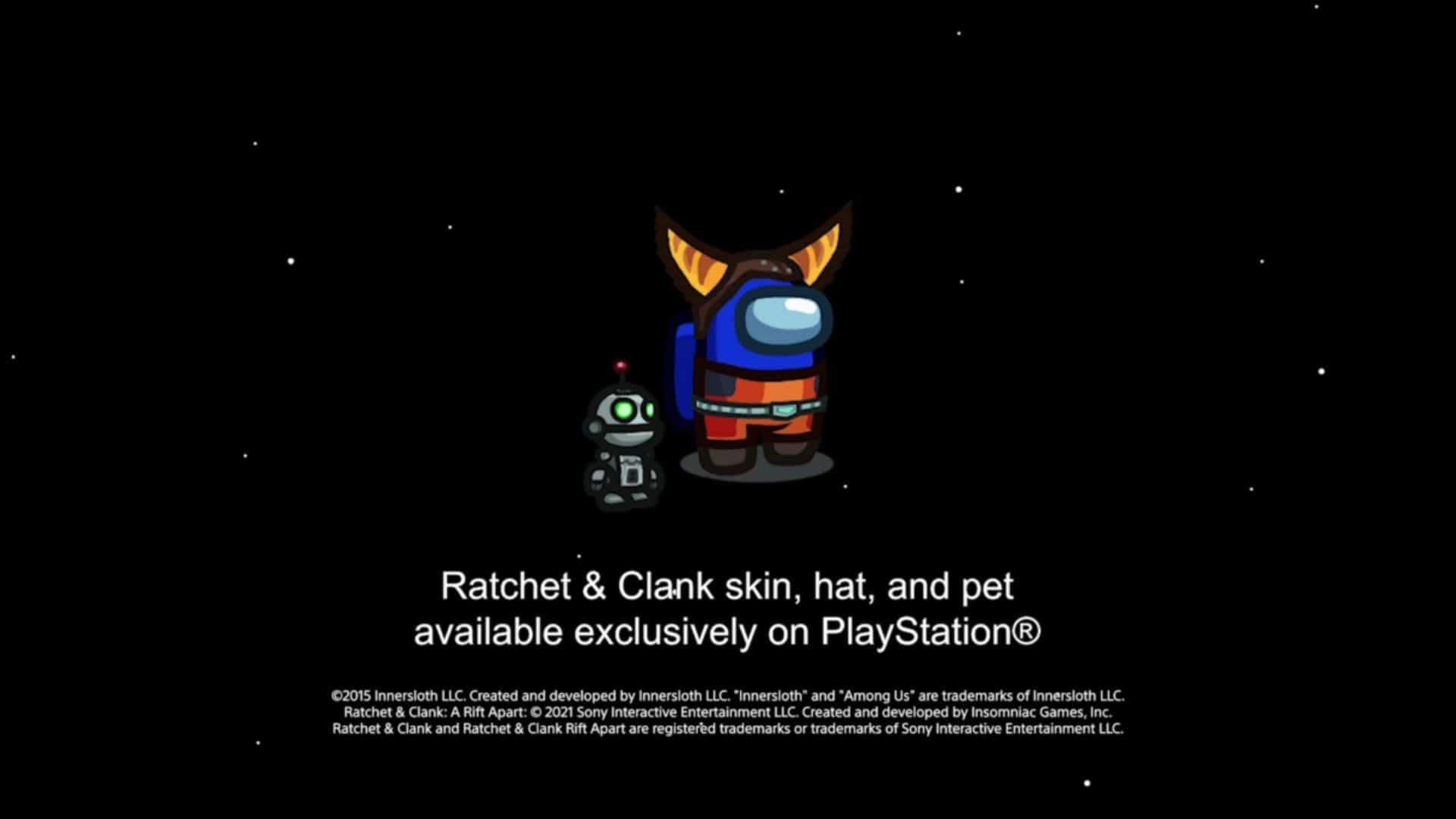 Among Us llegará a PS4 y PS5 este año con un skin de Ratchet y Clank: Rift Apart