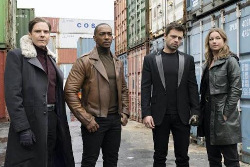 Falcon y el Soldado del Invierno -Sharon, Zemo, Bucky y Sam