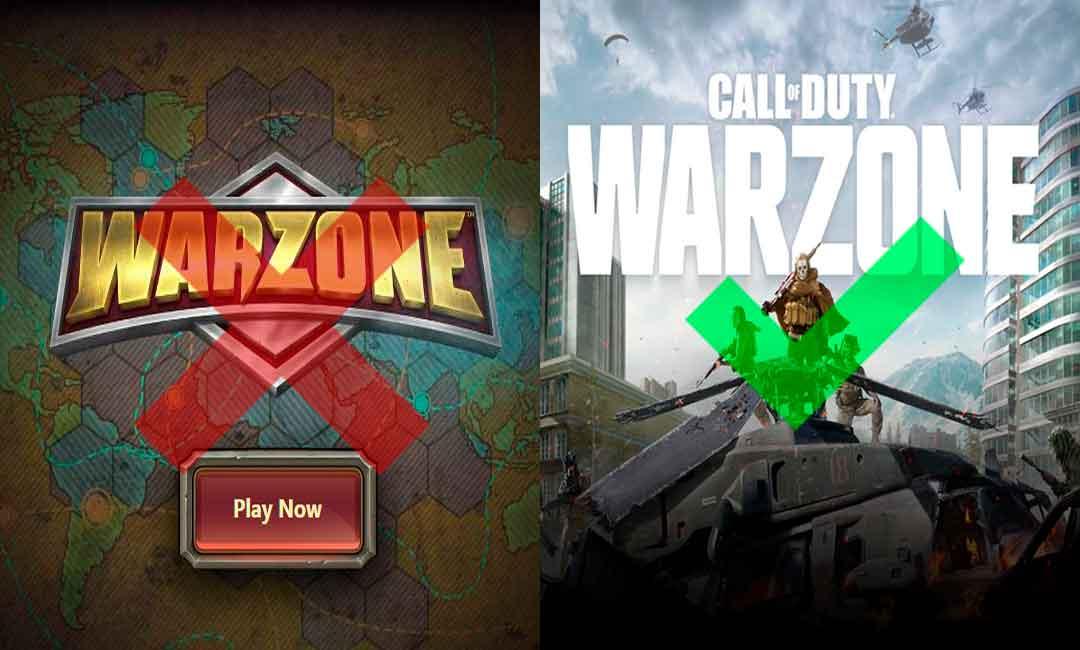 CoD Warzone vs Warzone.com, GamersRD