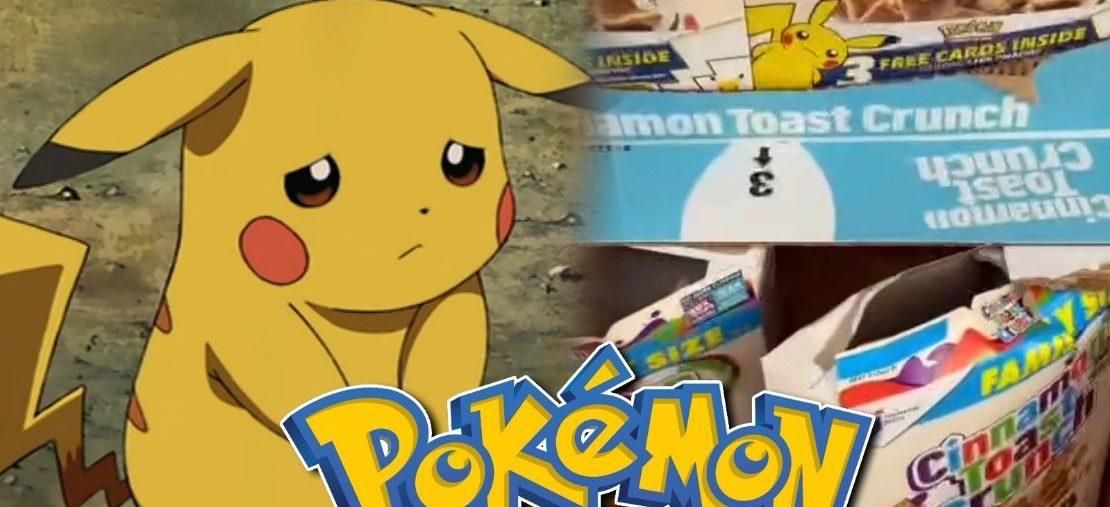 Scalpers roban las tarjetasde Pokemon de las cajas de cereal , GamersRD