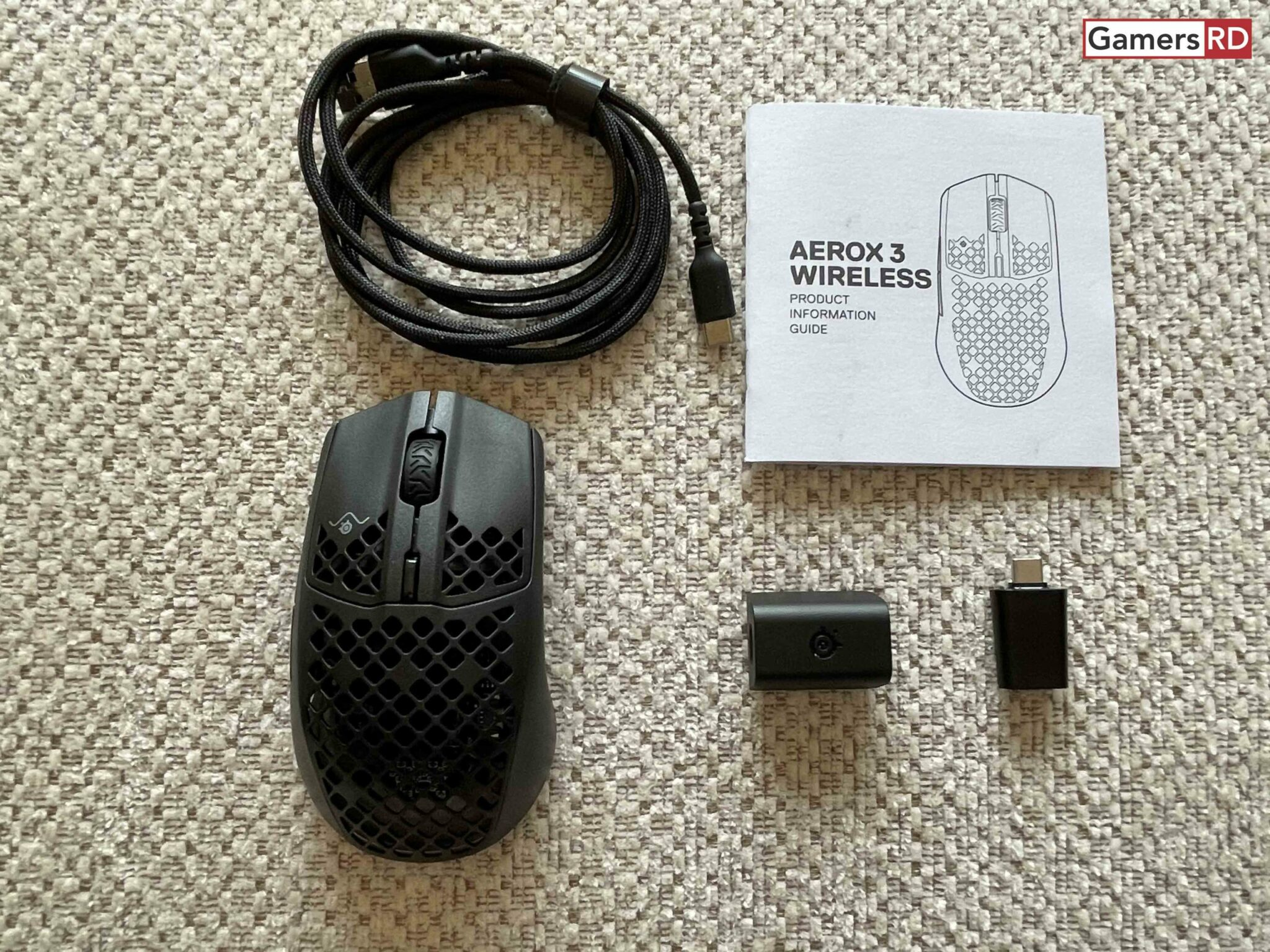 Steel Series Aerox 3 Wireless mouse gaming, Review 3 GamersRD