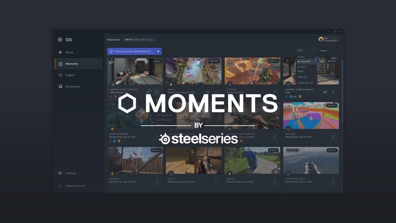 SteelSeries lanza Moments un nuevo servicio de software gratuito para compartir clips de video de juegos, GamersRd