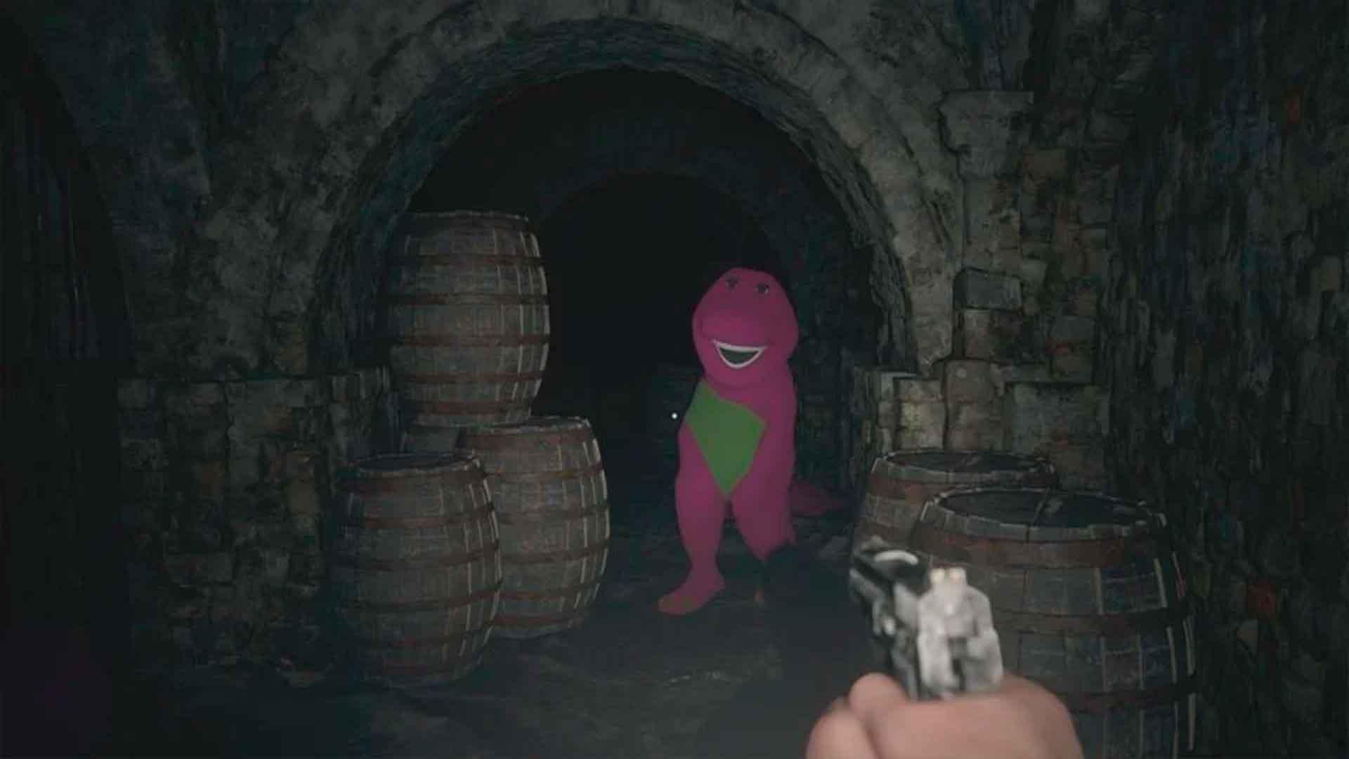 Barney, Resident Evil, GamersRD