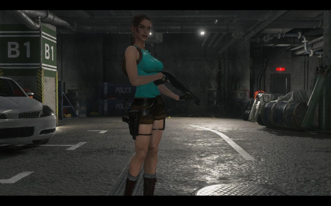 Lara-Croft-Mod-for-Resident-Evil-2-Remake-5