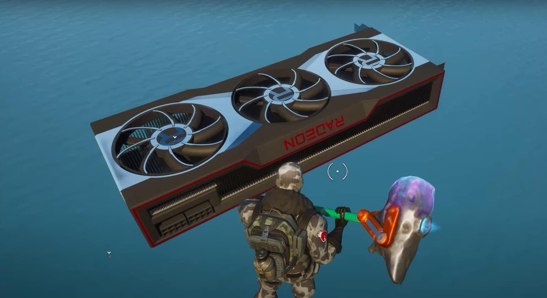 Fortnite con AMD Radeon Serie 6000. GamersRD