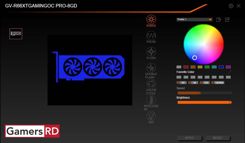 GIGABYTE RGB Fusion 2.0, GamersRD