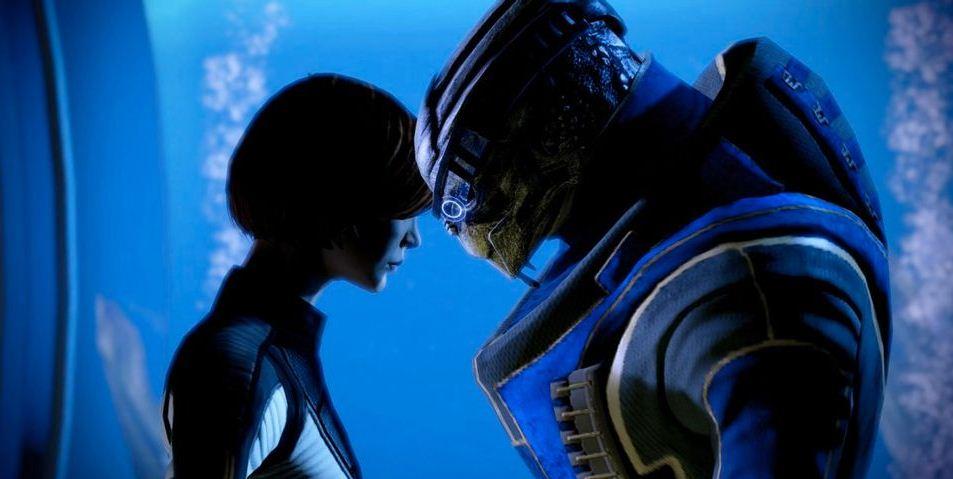 Fan de Mass Effect crea un hermoso fan art basado en el romance de Garrus y Shepard, GamersRD