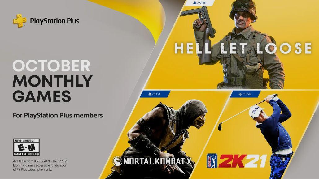 Hell Let Loose, PGA Tour 2K21 y Mortal Kombat X son los juegos de PlayStation Plus de Octubre, GamersRD