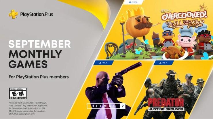 PlayStation Plus recibirá Hitman 2, Predator: Hunting Grounds y Overcooked: All You Can Eat! en septiembre