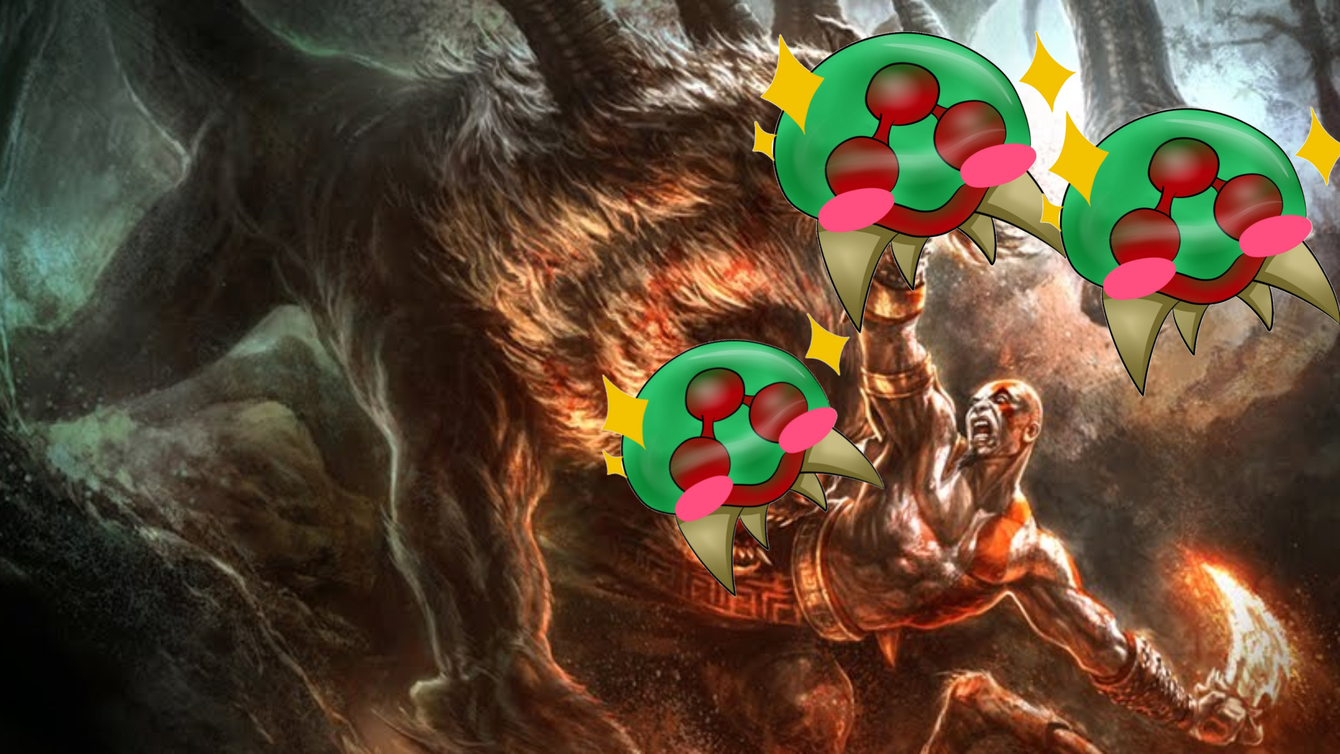 kratos-vs-cute-metroids-GamersRD